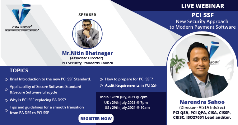 Webinar:- PCI SSF - New Security Approach to Modern Payment Software