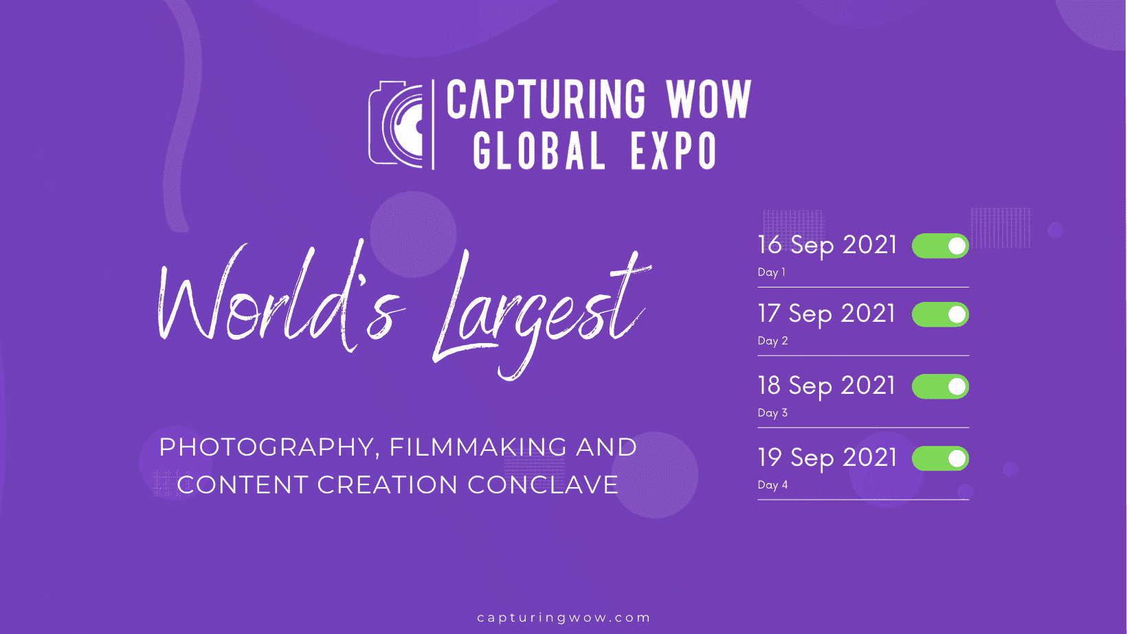 Capturing WOW Global Expo 2021