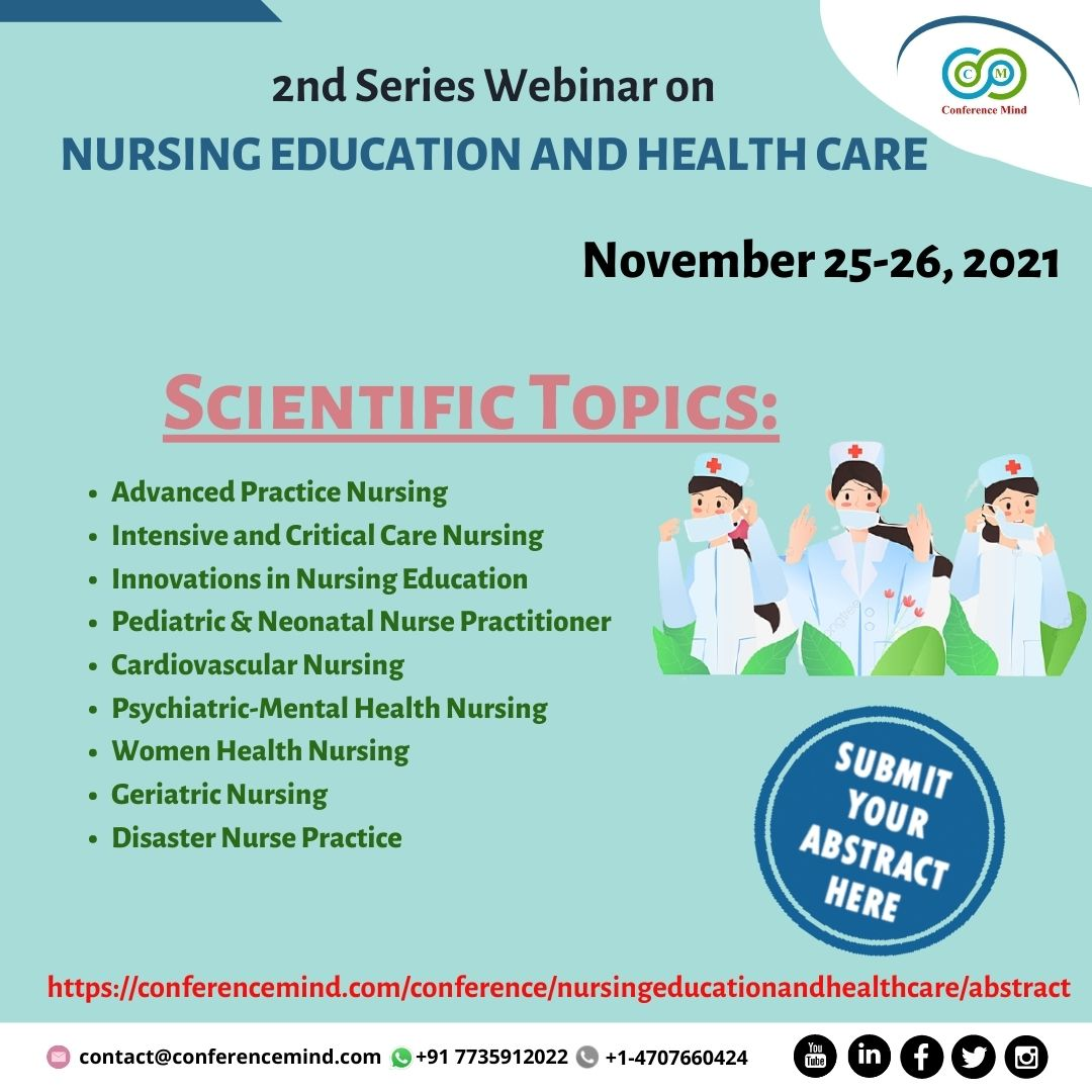 2nd Global Web Conference On Nursing Education And Health Care