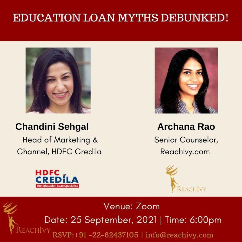 Education loan myths debunked!