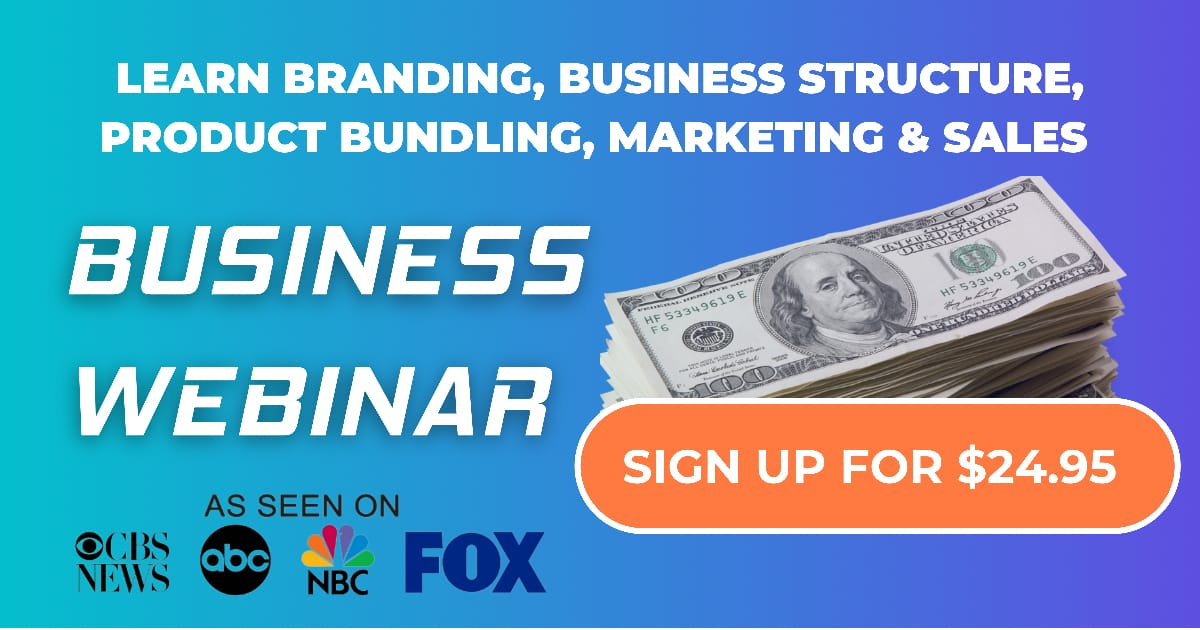 $10,000/M Business Webinar | Branding, Structure, Product Pricing, Marketing & Sales
