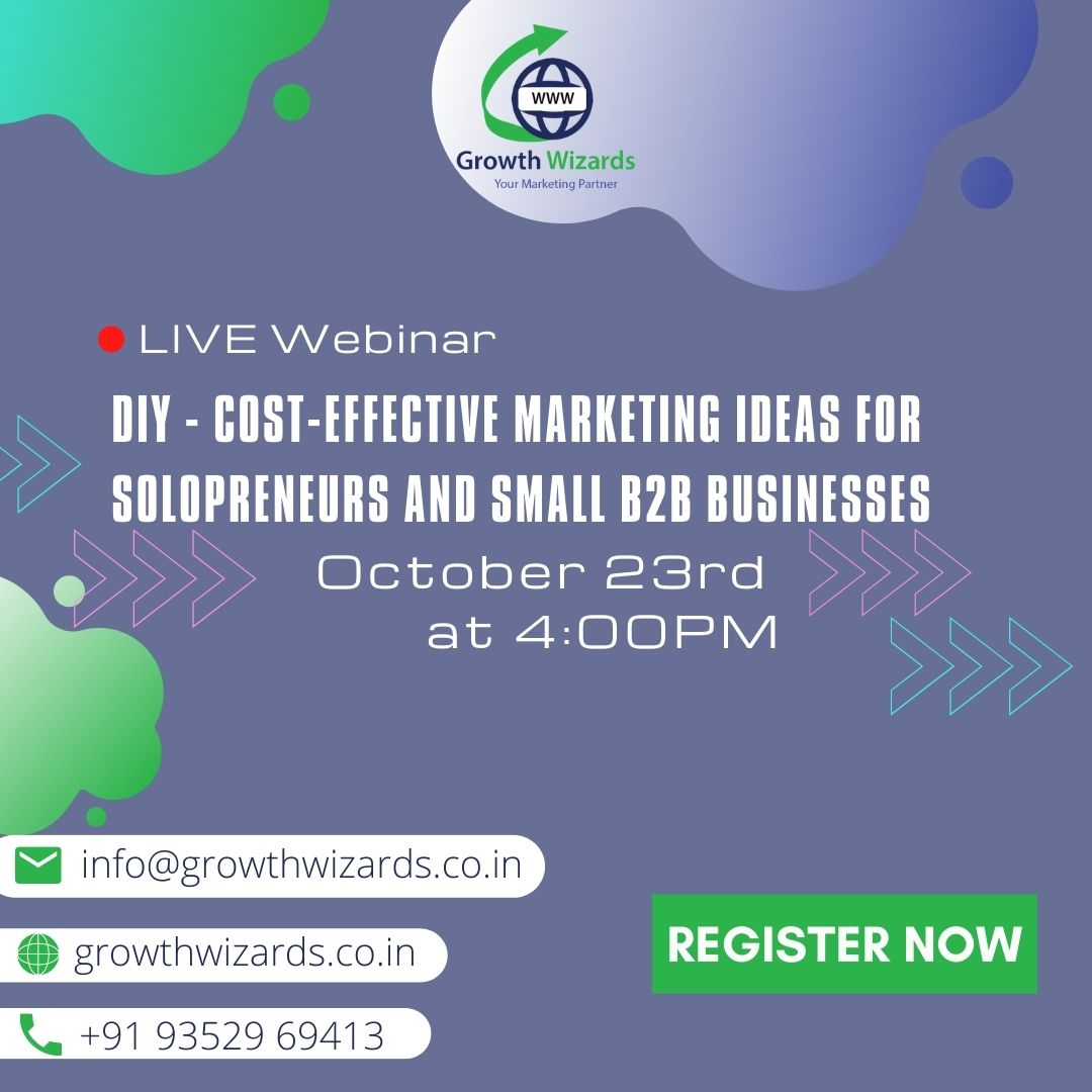 DIY - Cost-Effective Marketing ideas for the solopreneur and small B2B businesses
