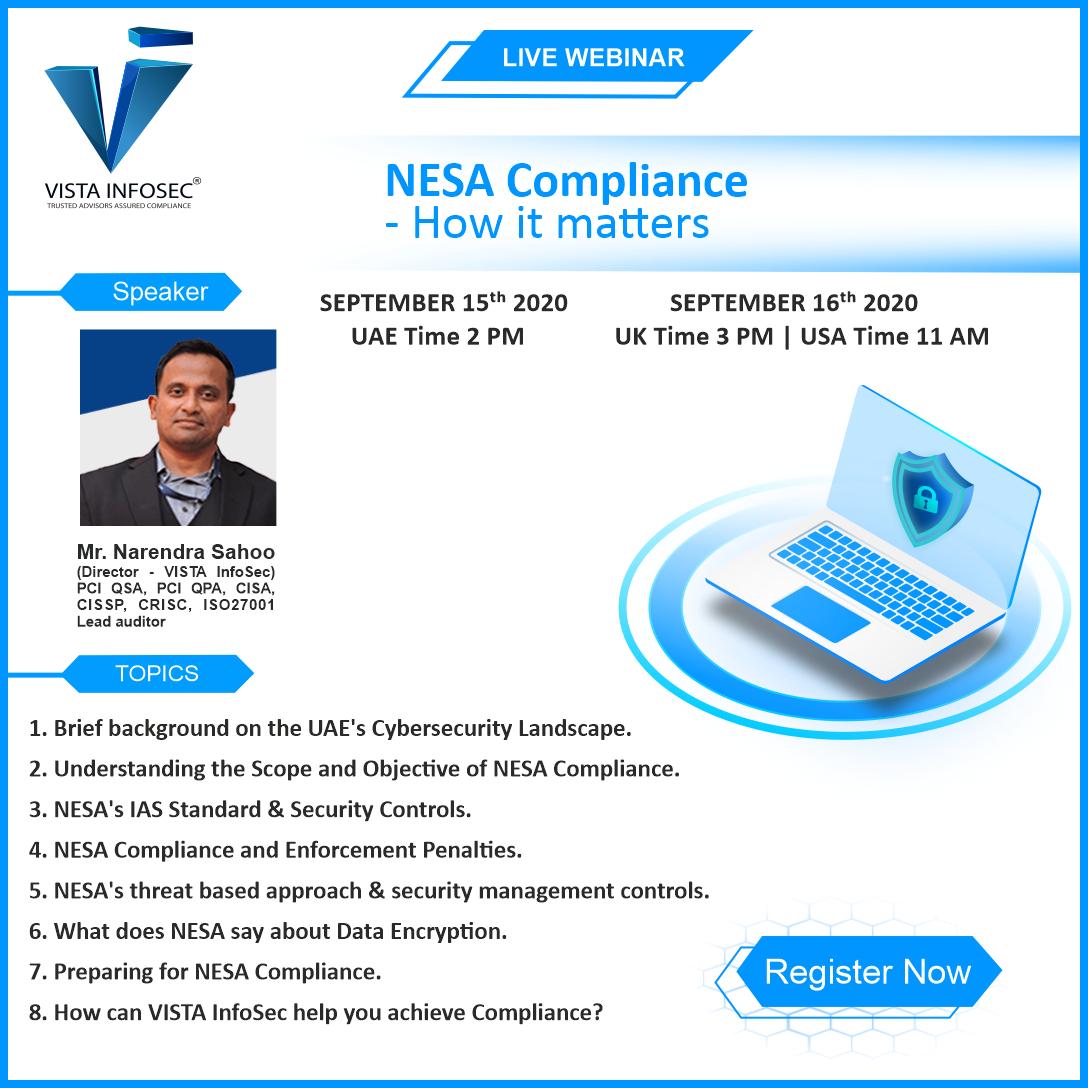 FREE WEBINAR : NESA Compliance - How it matters