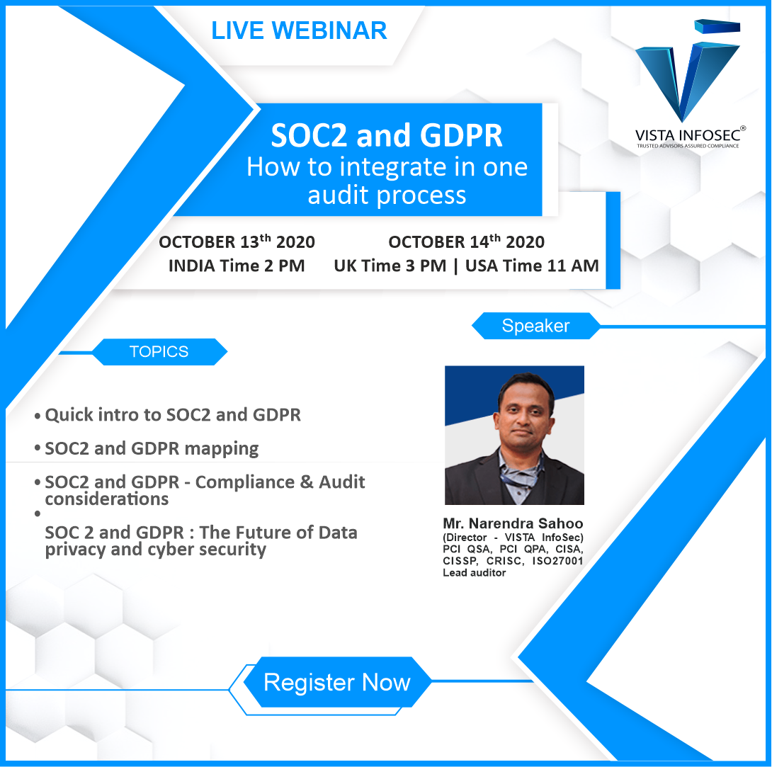 FREE WEBINAR: SOC 2 and GDPR - How to integrate in one audit process
