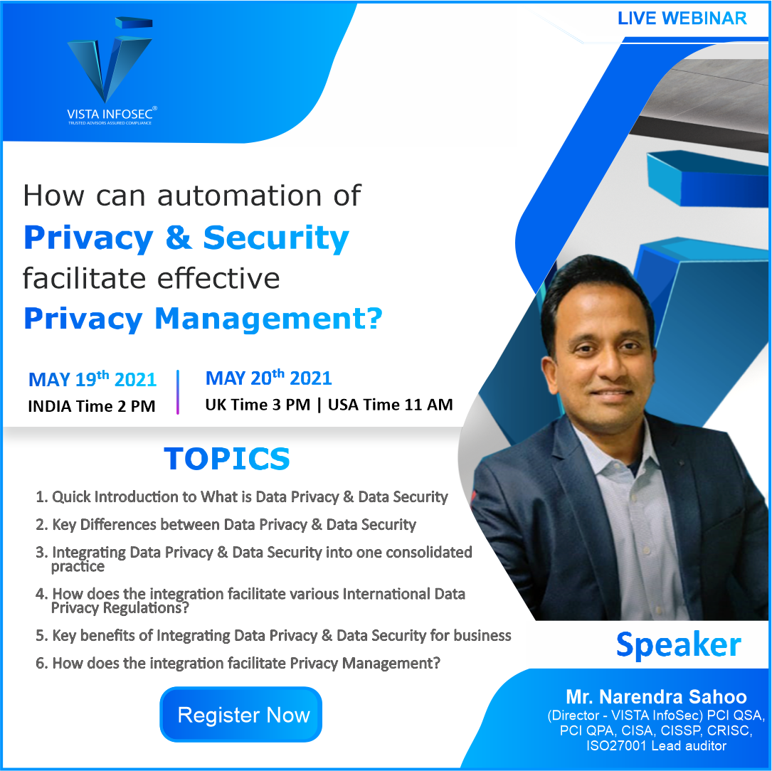 How can automation of Privacy & Security facilitate effective Privacy Management?